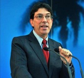 El canciller cubano Bruno Rodríguez en una rueda de prensa ofrecida el 16 de septiembre de 2009, en La Habana (Cuba).