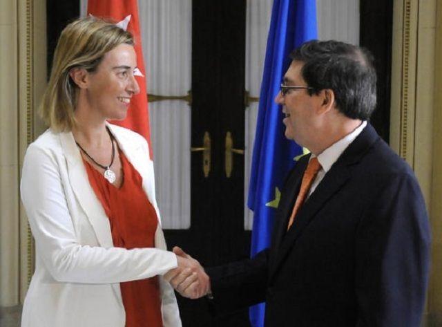 Bruno Rodríguez y Federica Mogherini en Cuba