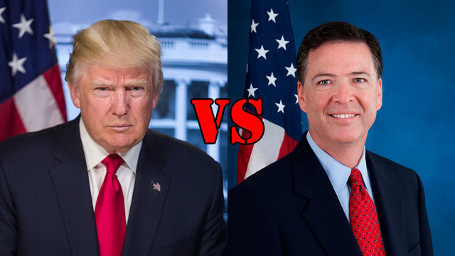 Donal Trump contra Mike Comey